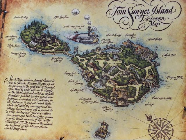 Magic Kingdom Tom Sawyer Island Map