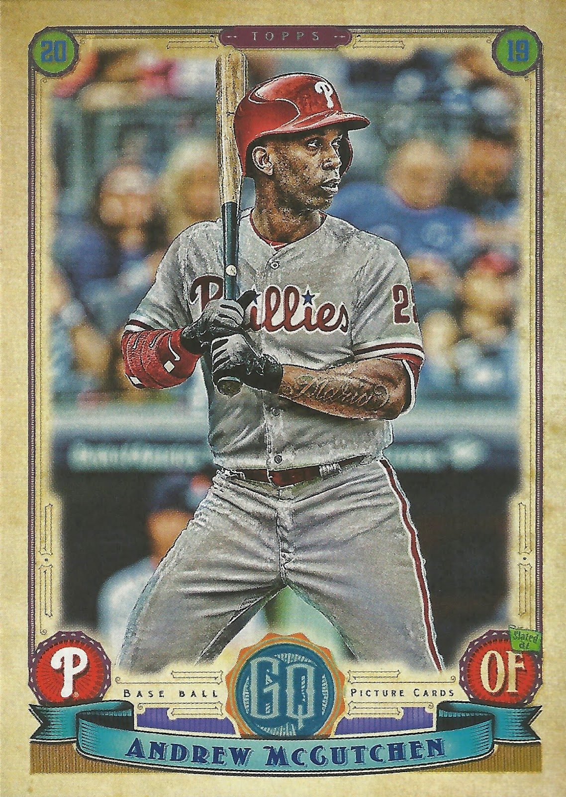 8947d1f0014 Game 50 - 2019 Topps Gypsy Queen  77 Andrew McCutchen