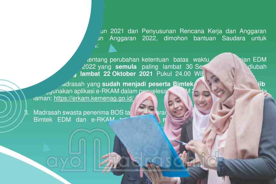 Deadline Penyampaian EDM 2021 dan RKAM 2021
