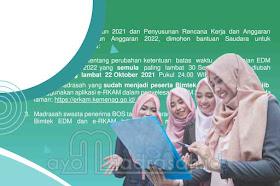 Deadline Penyampaian EDM 2021 dan RKAM 2022 Diundur Oktober