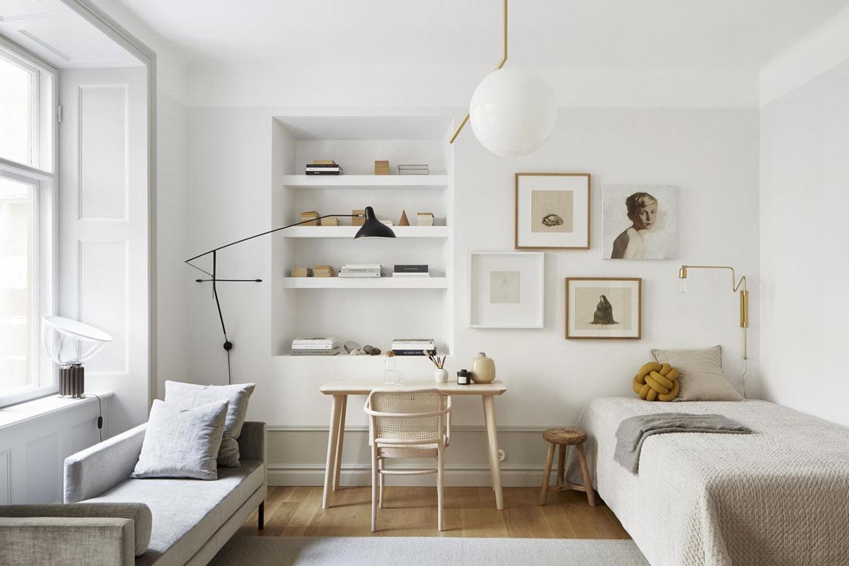 Piccolo appartamento di mq con colori naturali a stoccolma