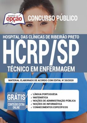A Apostila HCRP-SP em PDF - Técnico de Enfermagem - 2020 foi elaborada de acordo com o Edital 020/2020 do concurso, por professores especializados em cada matéria e com larga experiência em concursos.