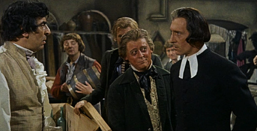 Michael Benson, Michael Ripper and Peter Cushing in Night Creatures, 1962