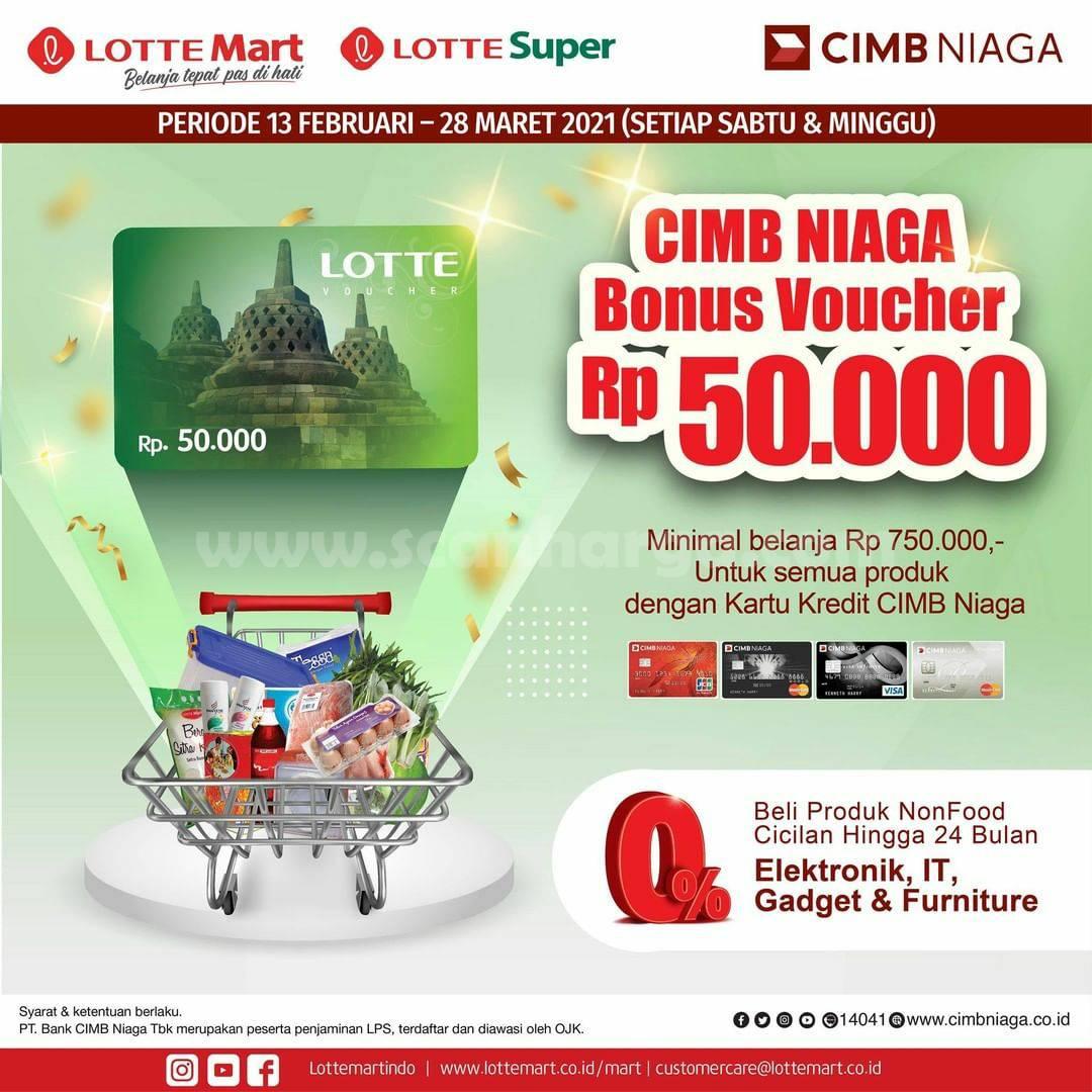 LOTTEMART Promo BONUS VOUCHER Rp 50.000! dengan KARTU KREDIT CIMB NIAGA