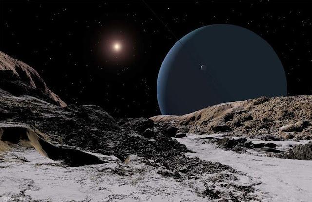 Sol visto de Urano