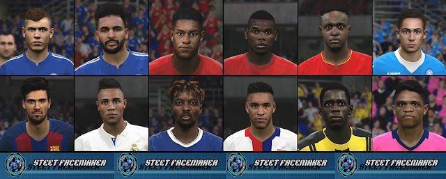 PES 2017 - Facepack Vol.1 By Steet Facemaker