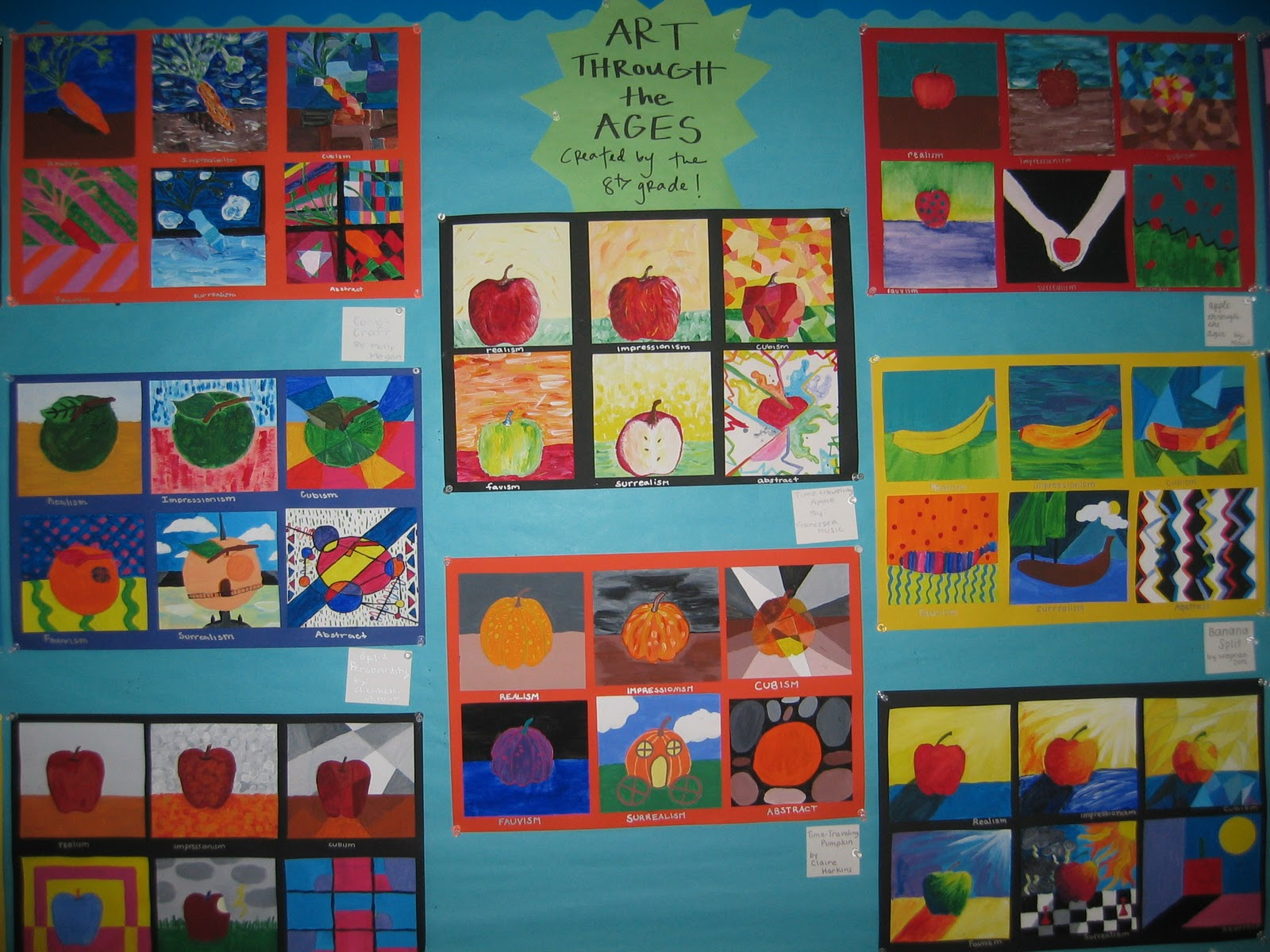 Life On And Off O Street Middle School Art Projects