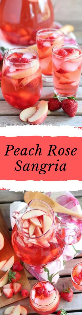 Peach Rose Sangria #healthydrink #easyrecipe
