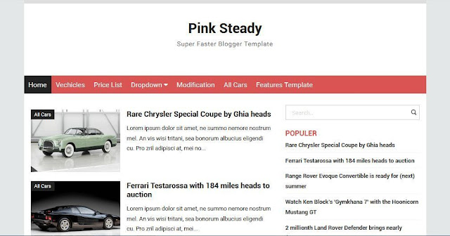 Pink Steady - Template Blog Simple Sederhana Gratis