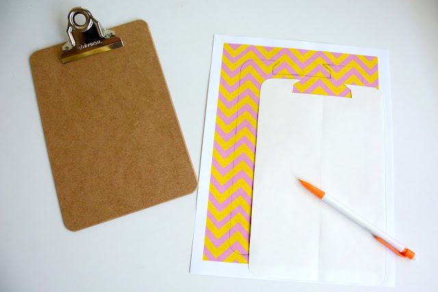 Aesthetic Nest Craft Papered Clipboard (Tutorial and Template)