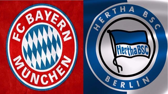 مشاهدة مباراة بايرن ميونخ وهيرتا برلين اليوم بث مباشر