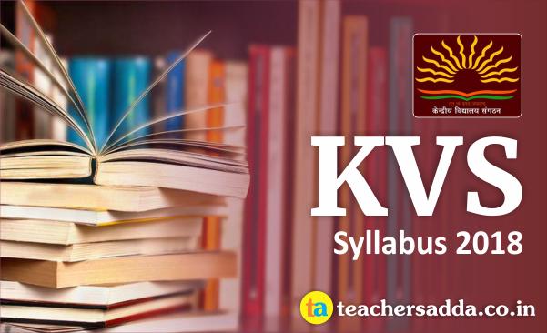 KVS Syllabus 2018