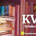 KVS Detailed Syllabus 2018
