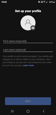 Add your name photo in Signal app