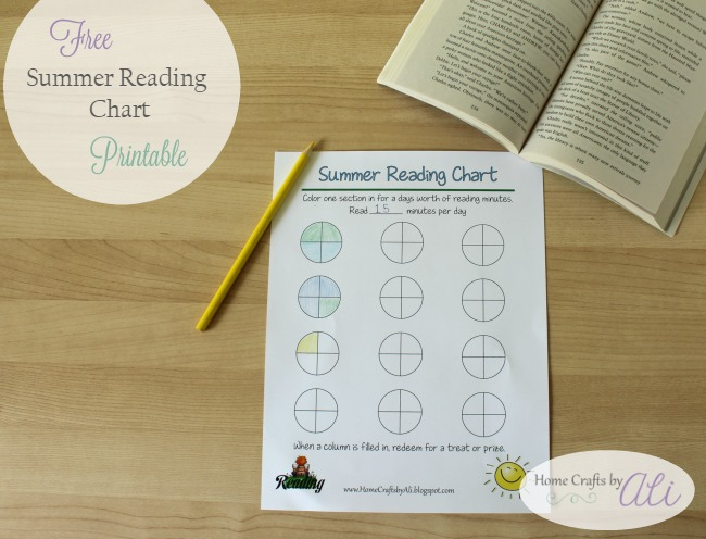 summer reading chart print out at home