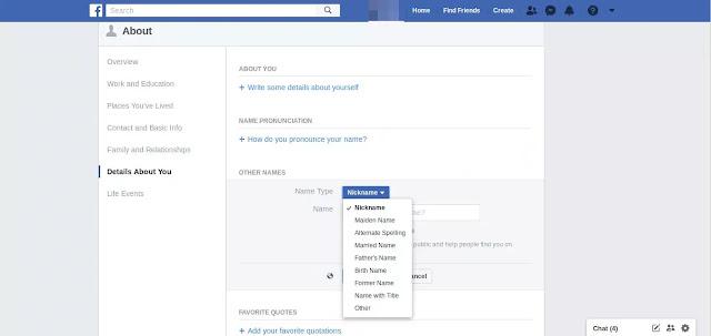 كيف اغير اسم الفيس بوك الخاص بي