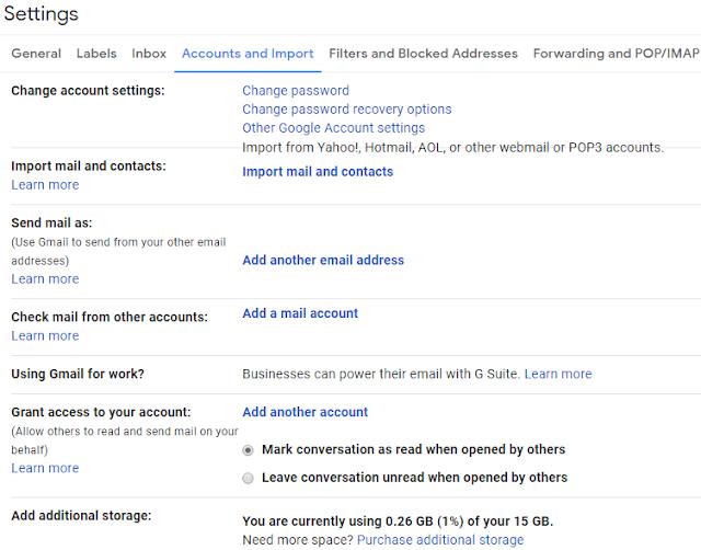 Gmail Account Password Change