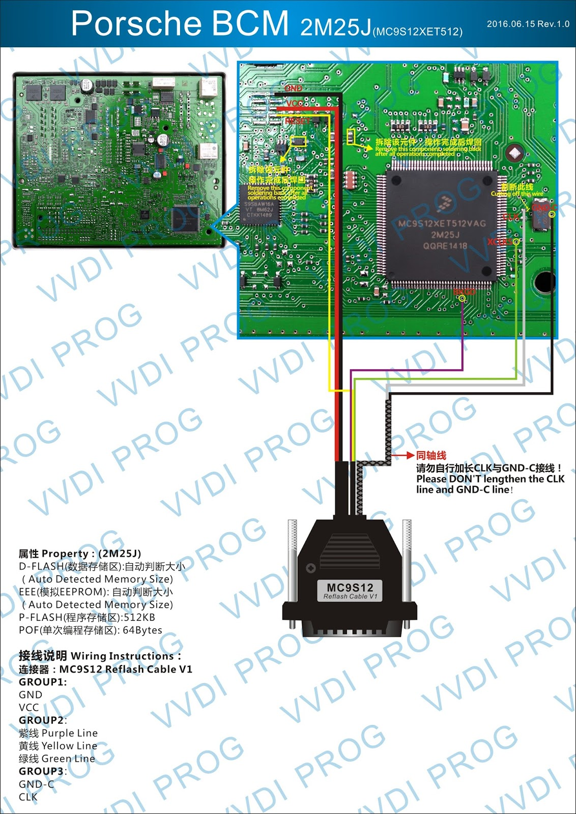 VVDI Prog + VVDI2 Program Porsche BCM 2M25J Key | OBD2
