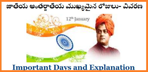 National International Important Days | Useful for School Teachers and to be School Teachers National Important Days Explanation in Telugu | International Importnant Days and Description in Telugu FREE PDF Download | Also may Useful for the Candidates who are preparing for the TET and DSC in Telangana asa well as Andhra Pradesh national-international-important-days-description-download-pdf