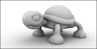 A Clay Render of a 3D Model
