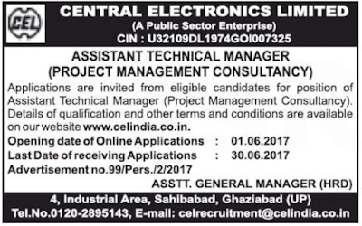 CEL Recruitment 2017 celindia.co.in Apply Online Application Form