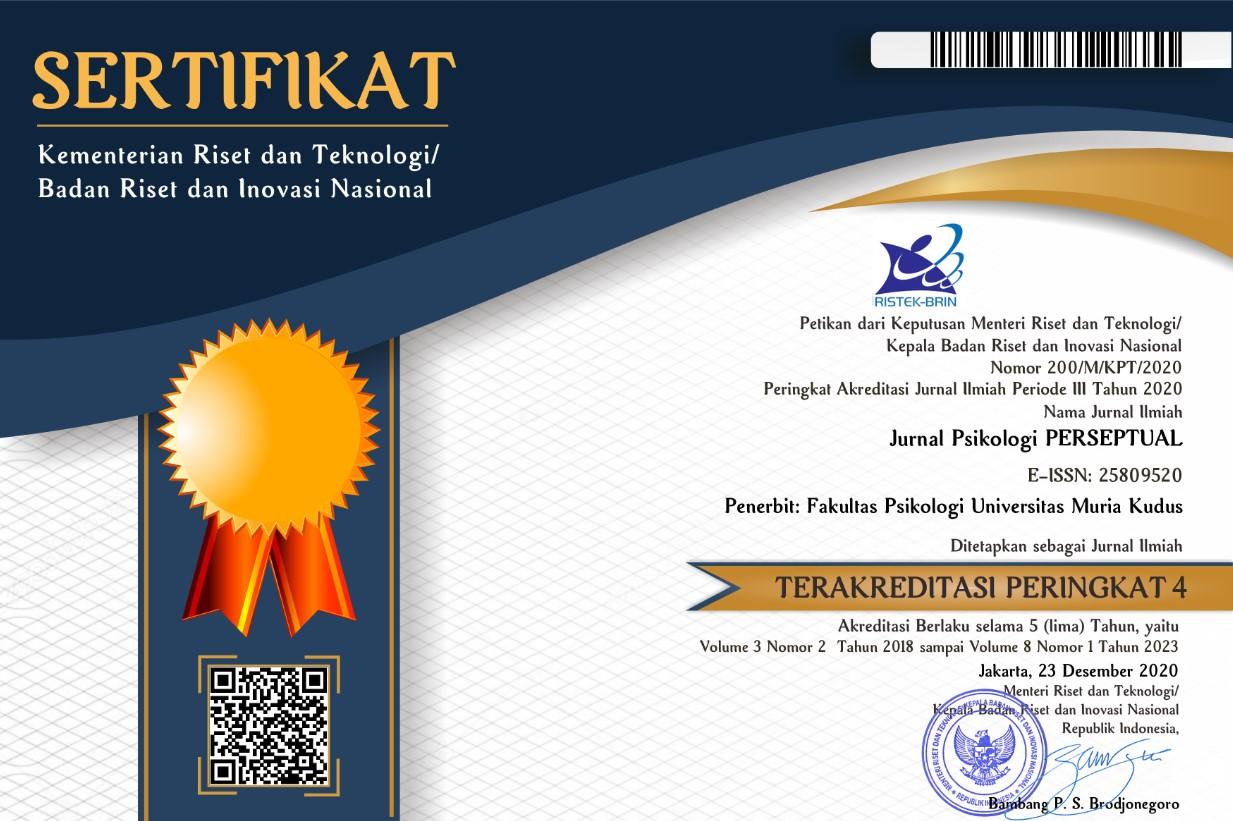 Certificate for Jurnal Psikologi Perseptual