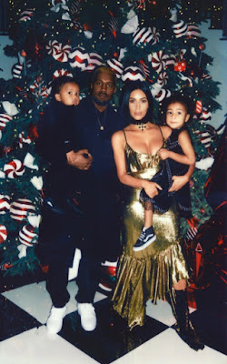 Kanye West and family on Christmax Day.