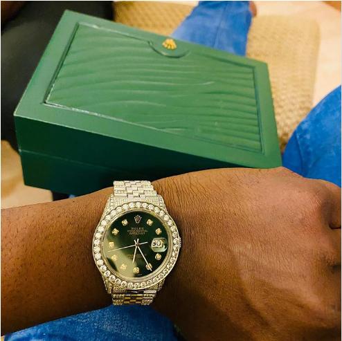 Zlatan's diamond encrusted Rolex wristwatch