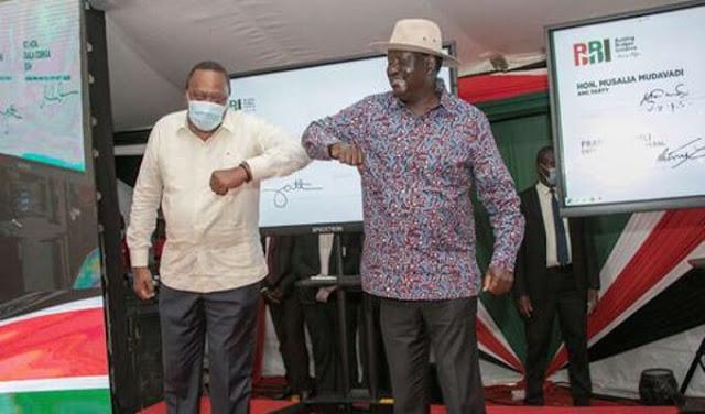 President Uhuru Kenyatta and ODM chief Raila Odinga photo