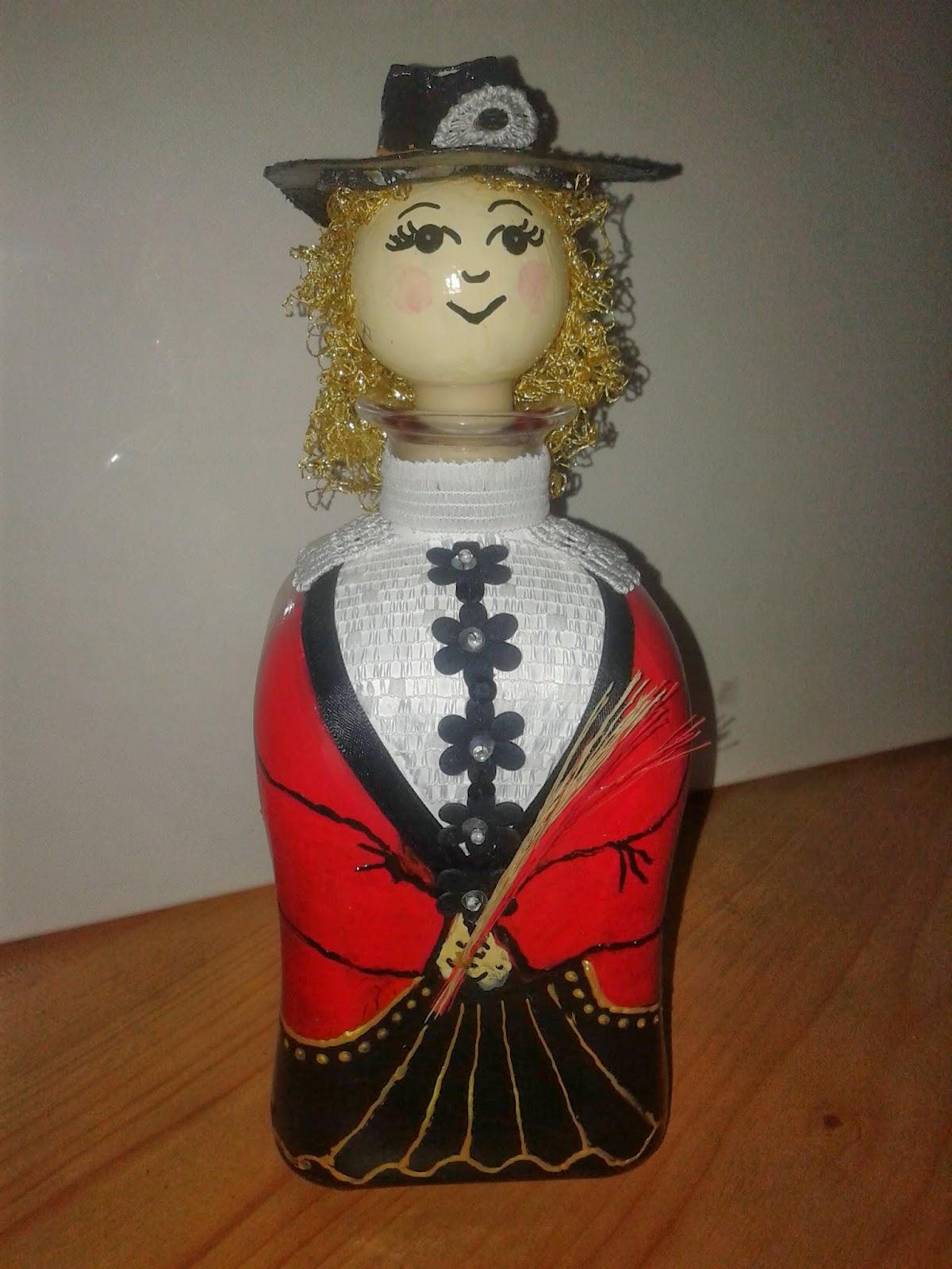 Butelka karafka ręcznie malowana