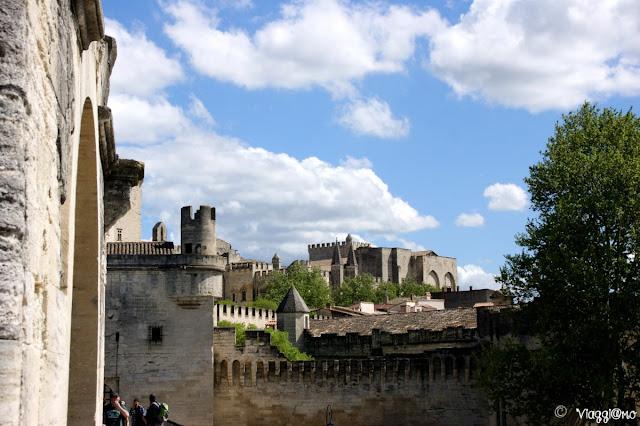 Vista di Avignone dal Ponte Saint Benezet
