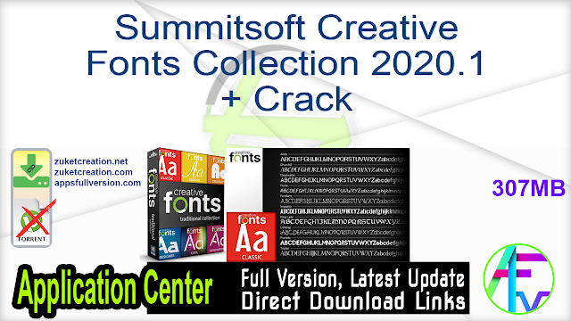 Summitsoft Creative Fonts Collection 2020.1 + Crack