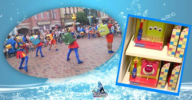 香港迪士尼樂園 2020年夏日新品,Pixar水花大街派對 綠色小人 及 勞蘇 迷你版噴水玩具, Pixar Water Play Street Party, Toy Story, 反斗奇兵, The Little Green Men, Lotso