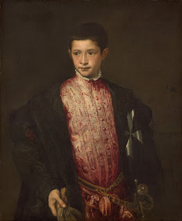 Ranuccio - pictured here by Titian as a 12-year-old boy - was sent to rule Parma on his father's behalf