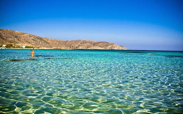 Praias românticas em Creta