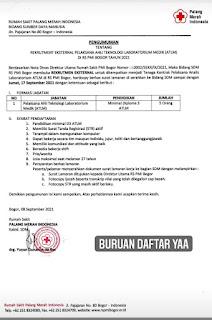 Lowongan Kerja Bogor  Rumah Sakit PMI Bogor