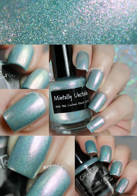 CrowsToes Nail Color Mintally Unstable | Hella Holo Customs March 2016