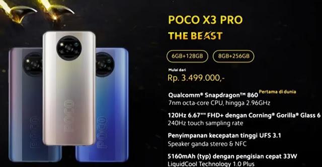 daftar harga Kelebihan dan Kekurangan Xiaomi POCO X3 Pro