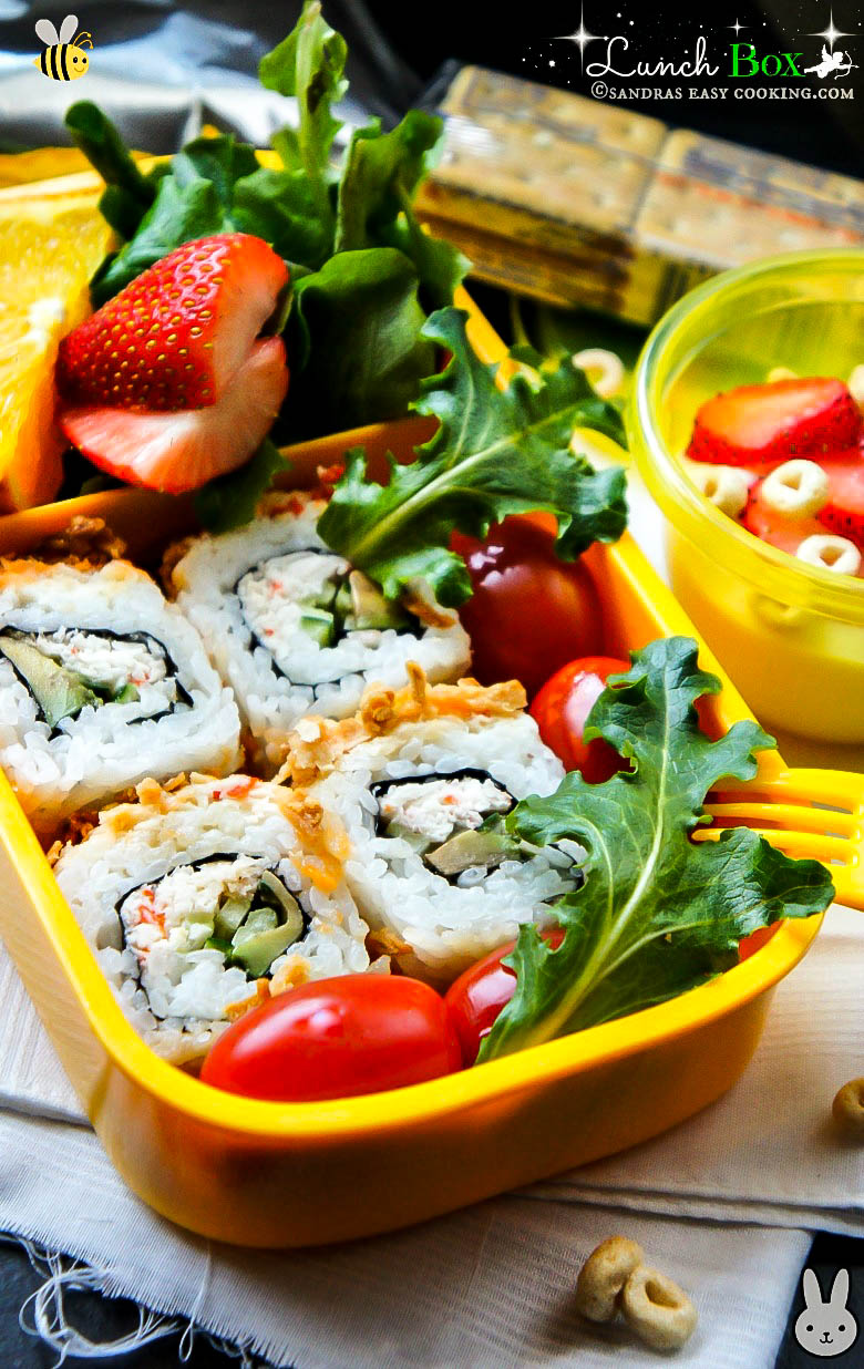 Lunch In A Box Lunch Box Sushi Roll With Fruits And Vegetables Sandra S Easy