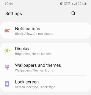 Phone settings - lock screen
