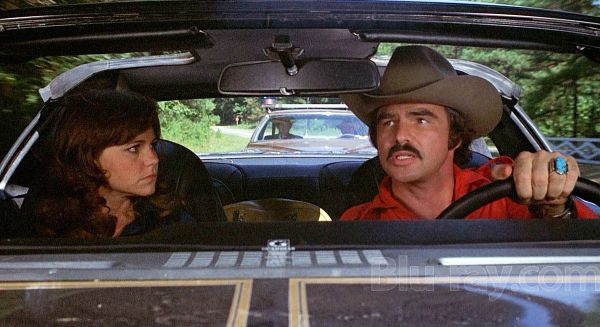 Sally Field and Burt Reynolds inside car in Smokey and the Bandit