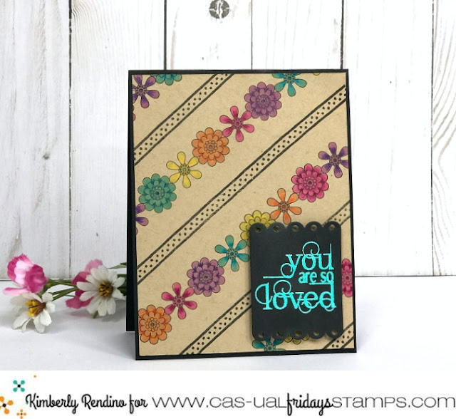 You Are So Loved | Handmade card by Kimberly Rendino | CAS-ual Fridays Stamps | partial die cutting | daisy chain | kimpletekreativity.blogspot.com