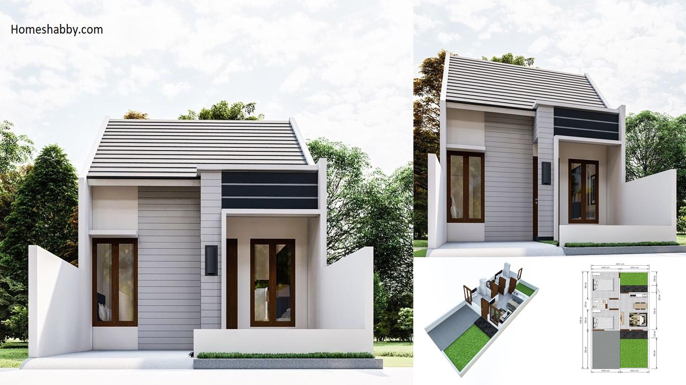 Desain Dan Denah Rumah Minimalis Ukuran 6 X 14 M Terlihat Kecil Tapi Punya Halaman Yang Luas Homeshabby Com Design Home Plans Home Decorating And Interior Design