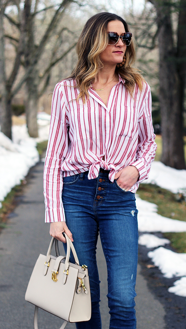 Women's Button Down Shirt #springtop