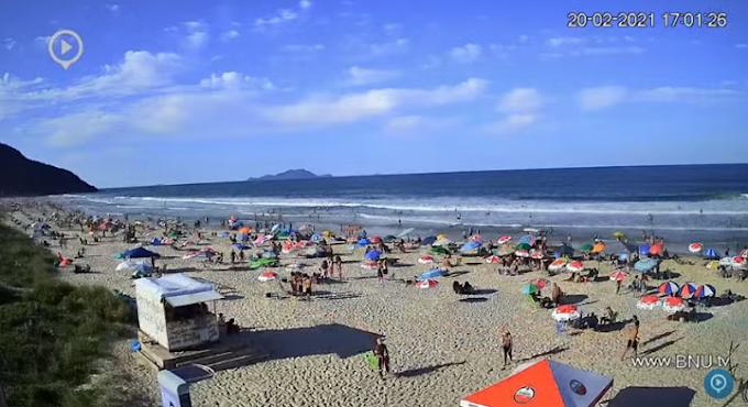 Câmera ao vivo da Praia Mole Floripa