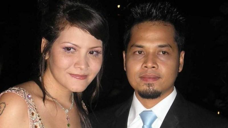 Melanie Subono dan I Gusti Ngurah Agus Wijaya saat menikah