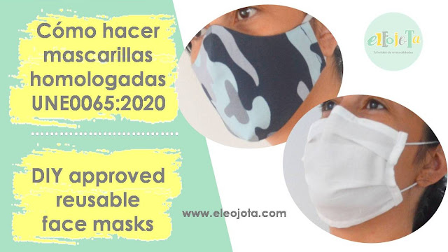 tutorial mascarillas tela UNE0065