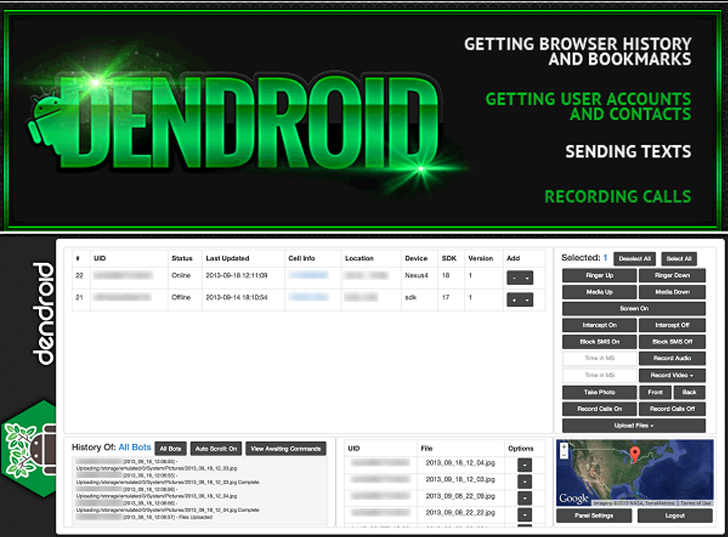Symantec discovered Android Malware Toolkit named Dendroid