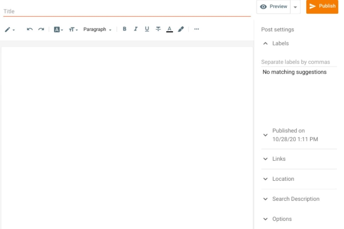 How to Use New Post Tab in New Blogger Interface