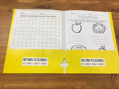 """When students are out sick, it's hard to keep track of work they miss. TheHappyTeacher's """"Ketchup Folder"""" can help you manage the chaos and stay organized."""